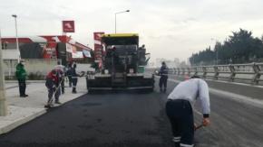 D400 havalimanı kavşağının ve Anadolu Lisesi Caddesi'nin Asfalt Çalışması
