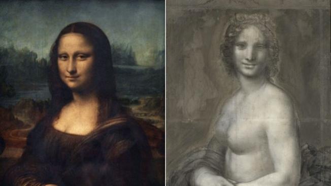 Mona Lisa'nın Nü Taslağı Fransa'da Bulundu
