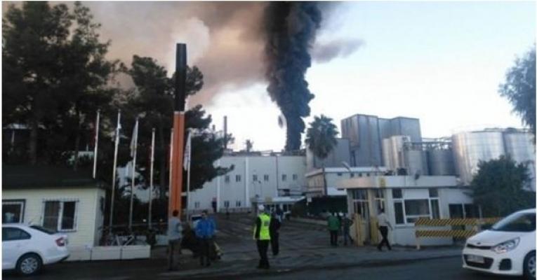 Yağ Fabrikasında Yangın Çıktı