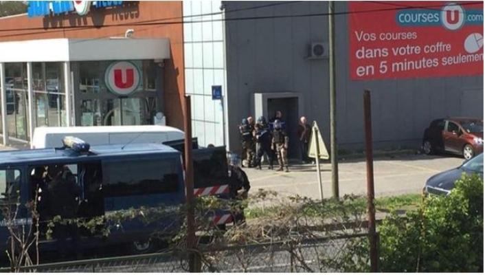 Fransa'da DAEŞ Kabusu Trebes Kentinde Süpermarkette Silahlı Saldırı