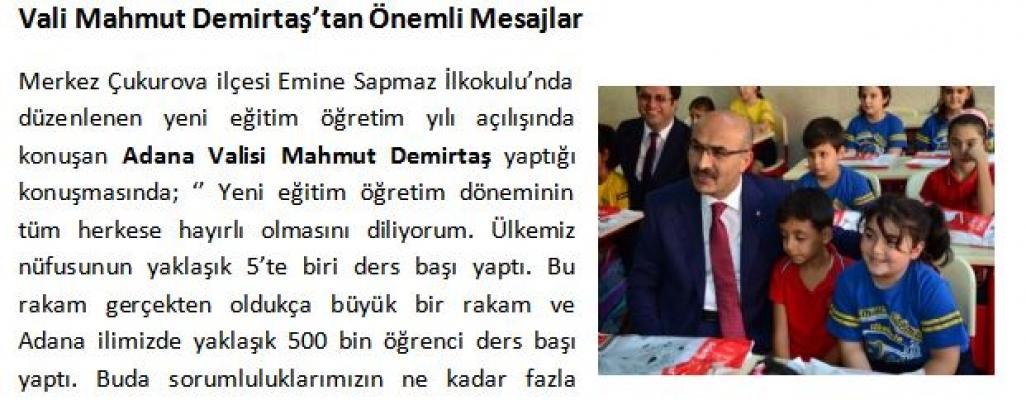 Adana'da 500 Bin Öğrenci İle Ders Başı Yaptı