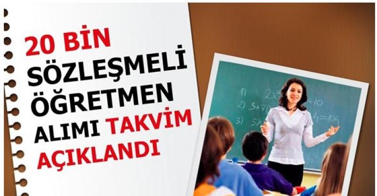 20 Bin Ek Sözleşmeli Öğretmen Atama Takvimi Açıklandı