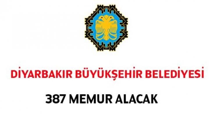 Diyarbakır Büyükşehir Belediyesi 387 Kamu Personeli Alımı