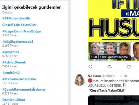Cinsel Taciz Yalan Çıktı Etiketi Sosyal Medyada 1. Sırada