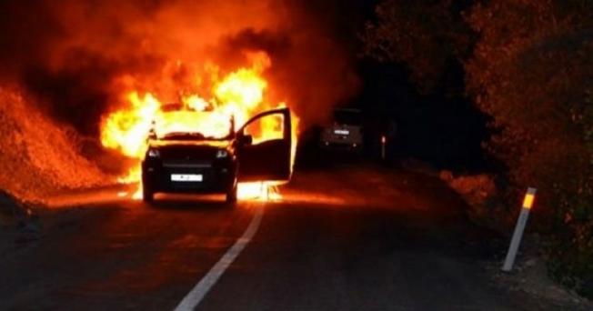Adana'da otomobil kundaklama iddiası