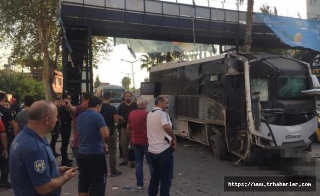 Adana'da Polis Servisine Hain Saldırı