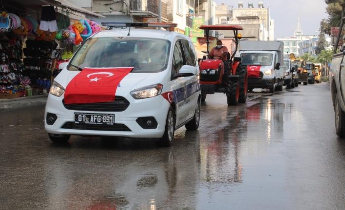 Karataş Belediyesi Yeni Araçlarını Tanıttı