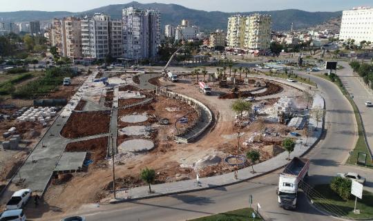 Adana Büyükşehir Belediyesi, Kozan'a Şehit Kubilay Meydanı inşa ediyor.