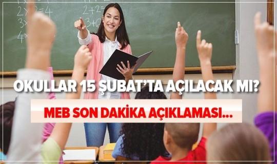 Ziya Selçuk'tan Okullarla İlgili Açıklama Geldi