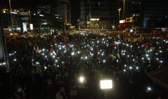 İstanbul'da Büyük Bir İsrail Protestosu Gerçekleşti