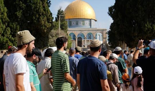 134 Fanatik Yahudi Mescid-i Aksa'ya Baskın Yaptı!