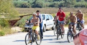 30 Bisikletle Bodrum'a Geldi