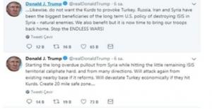 Trump'dan Türkiye İçin Tehdit İçeren Tweet