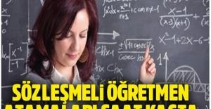 Sözleşme Öğretmen Atama Sonuçları 7 Şubatta Açıklanıyor