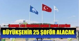 Mersin Büyükşehir Belediyesi 20 Daimi Şoför Alımı