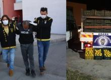 Adana'da Portakal Hırsızları Yakayı Ele Verdi