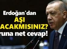 """Cumhurbaşkanı Erdoğan """"Aşı Olacak mısınız"""" Sorusuna Cevap Verdi"""
