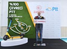 """PTT AŞ'nin """"Dağıtım Hizmetlerinde Elektrikli Skuter Kullanımının Lansmanı"""
