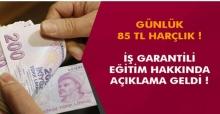 İŞKUR'dan 85 TL Harçlık İle Kurs İmkânı