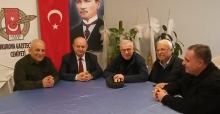 Hürriyet Gazetesi Köşe Yazarı Ertuğrul Özkök Çukurova Gazeteciler Cemiyeti'ni ziyaret etti