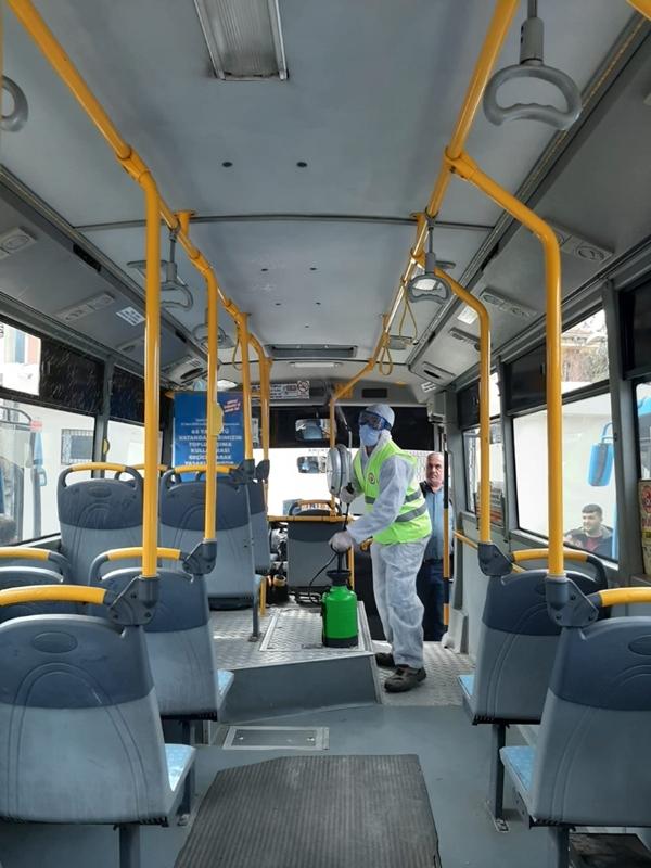 Halk Otobüsleri Dezenfekte Edildi Tamer: Yolcularımız Artık Güvende Sayılır